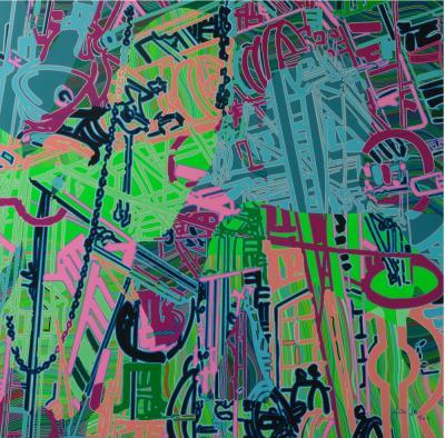 RTU158811, 2011, acrylic on canvas, 180 x 180 cm