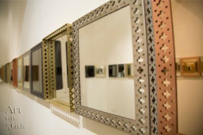 The royals, Tray-Regular mirror, Brass-Copper-Black Steel- Stainless, 35 x 30 cm