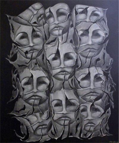 Break away 2, 2016, Acrylic on canvas, 100x80cm