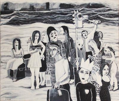 Untitled 34, 2012, acrylic on canvas, 110x120 cm