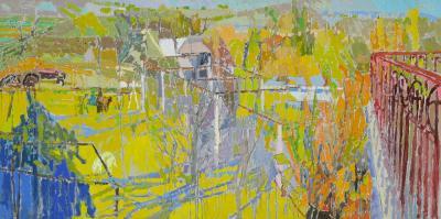 oil on canvas, 110 x 220 cm
