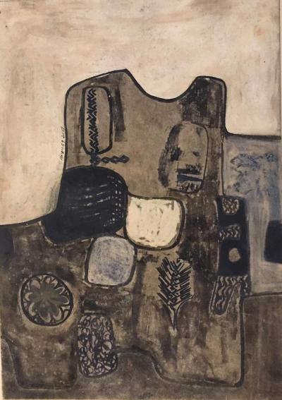 Untitled B5, 1969, Mixed media on paper, 66 x 47 cm