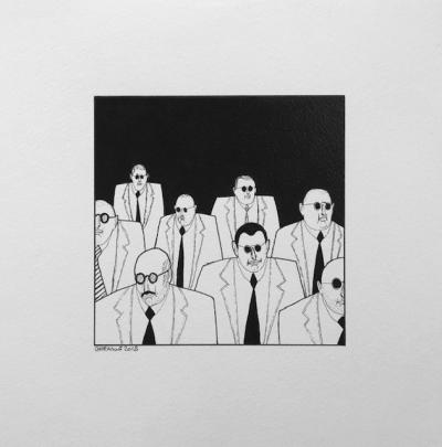 Untitled 18, 2018, Ink on paper, 25 x 25 cm