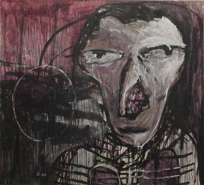 My lungs are fine, Acrylic on canvas, 2003, 180x200 cm