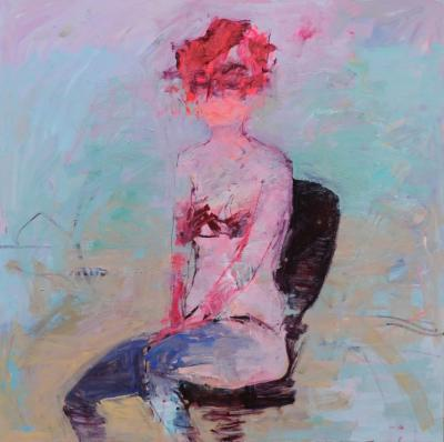 Untitled 44, 2015, acrylic on canvas, 178x178 cm