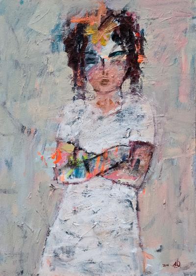Child, 2016, Acrylic on canvas, 70 x 50 cm