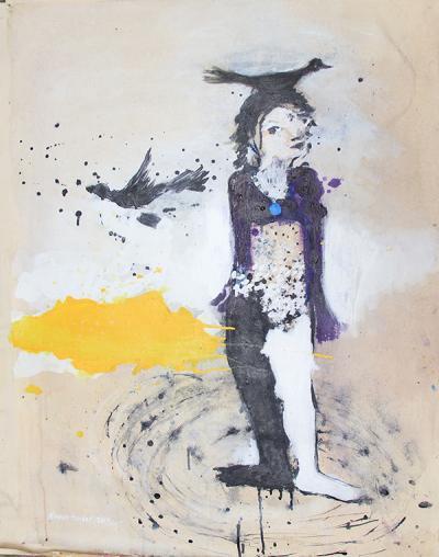 untitled 8, 2014, acrylic on canvas, 100x70cm