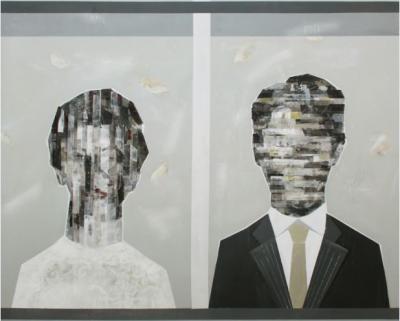 Winter Feeling, 2017, Mixed media on canvas, 150 x 150 cm