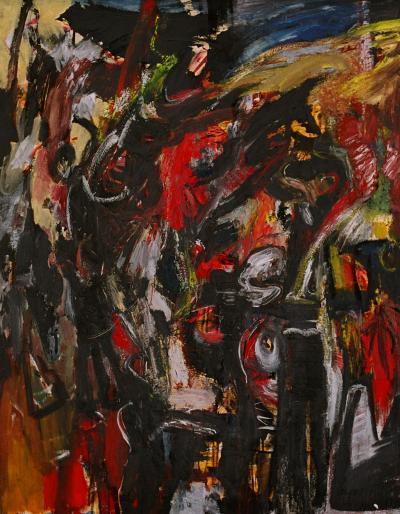 s A myth of a hero, 1994, Oil on canvas 140cm x110cm