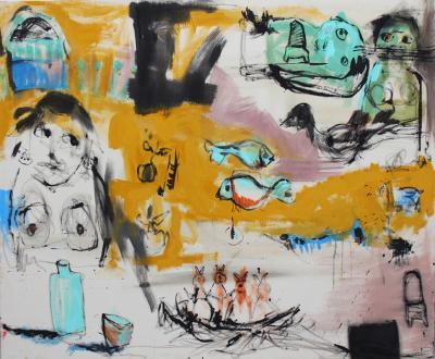 Noise of ideas, 2012, acrylic on canvas, 100x120