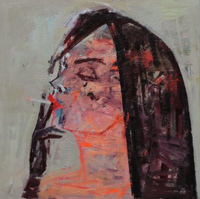 Untitled 43, 2016, acrylic on canvas, 100 x 100 cm