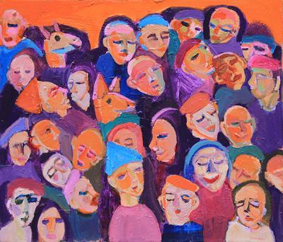 Untitled 27,2020, acrylic on canvas, 60 x 70 cm