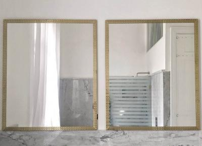 the royal, brass, white mirror, 80x100  cm