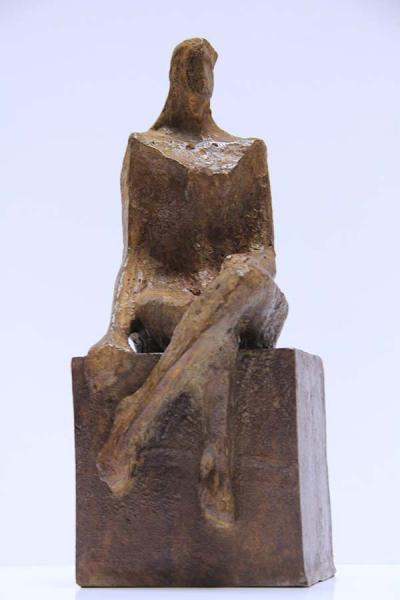 The Waiting, bronze, (brown), 1/8