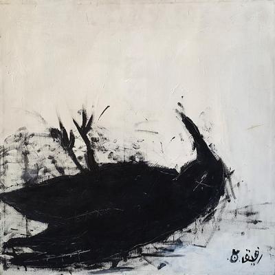 Untitled, Acrylic on canvas, 80x80