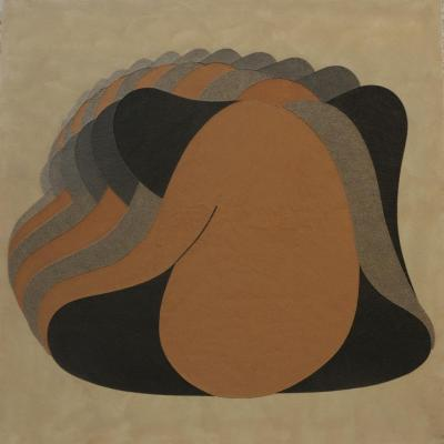 Ramadan Kareem, 2011, natural sand on canvas, 150x150cm
