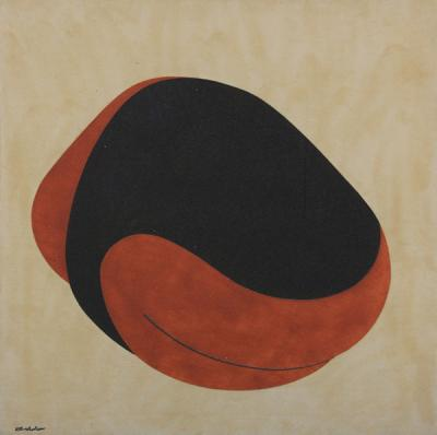 untitled, 2011, Natural sand on canvas, 100 x 100 cm.