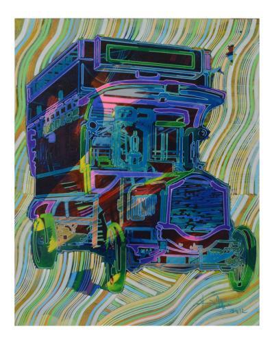 RTU175112, 2012, Acrylic on canvas, 100 x 80 cm