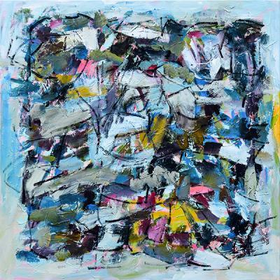 Feelings, 2019, acrylic on canvas, 130 x 130 cm
