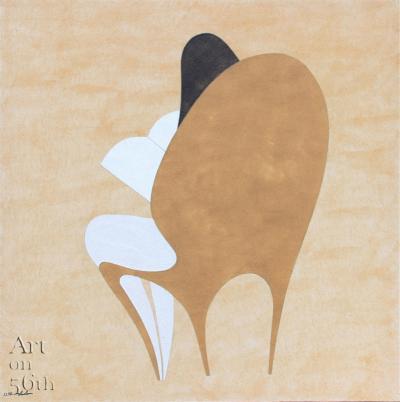 Reader 1, 2017, natural sand on canvas, 120x120cm.