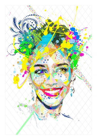Jessica Kahawaty, 2016, Mixed media on canvas,180x110cm