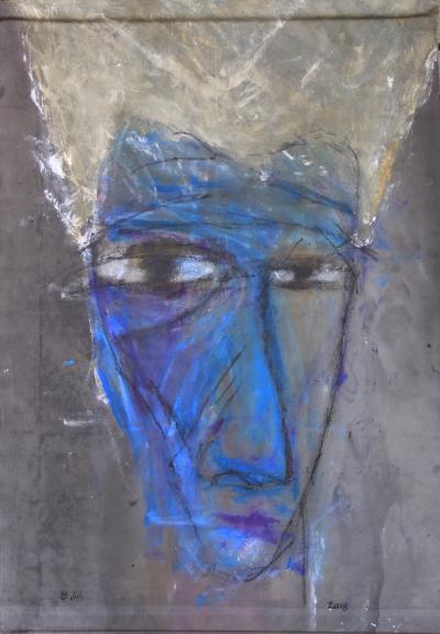 Untitled 31, 2018, acrylic on canvas, 139 x 98 cm