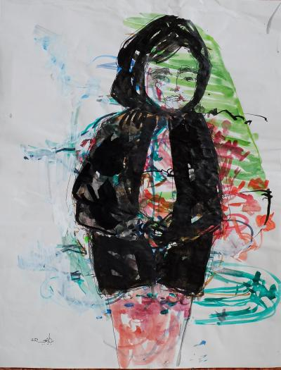Untitled 288, mixed media on paper, 21 x 30 cm