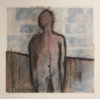 Untitled15, 2004, mixed media on paper, 26 x 27cm