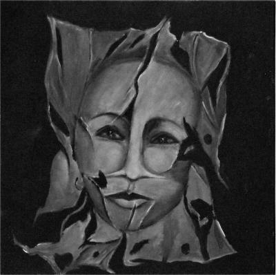 Break away 3, 2016, Acrylic on canvas, 40x40cm