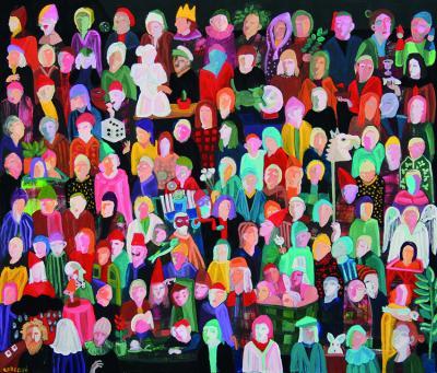 The lives of Others 31, 2021, acrylic on canvas, 120x140cm