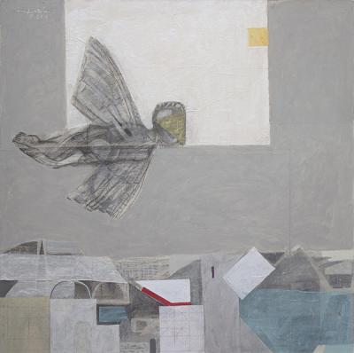 Icarus. 2015, mixed media on canvas,120x120 cm