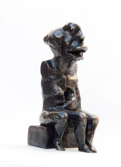 3 legged monster, 2010, Bronze 2/6, 18x7x11cm