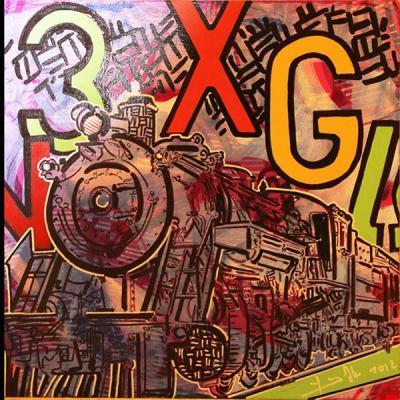 RDG 172212, 2012, Acrylic on wood, 34x34cm