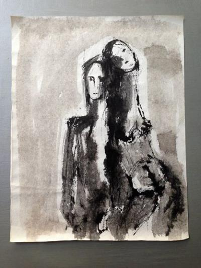 14-Untitled, chinese ink with charcoals on paper, 2010