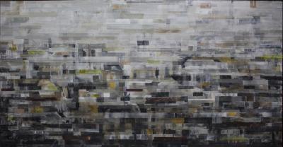 Landscape 5, 2019, Mixed media  on canvas, 115 x 235 cm