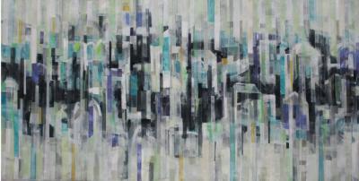 Landscape 4, 2018, Mixed media on canvas, 120 x 240 cm