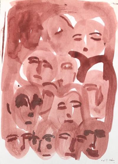 Untitled 16, 2017, watercolor on paper, 30 x 21 cm