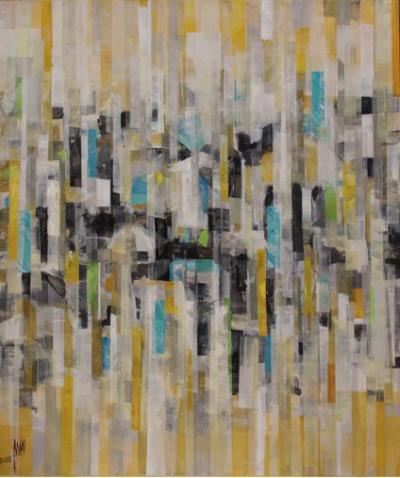 Landscape 2, 2018, Mixed media on canvas, 120 x 100 cm