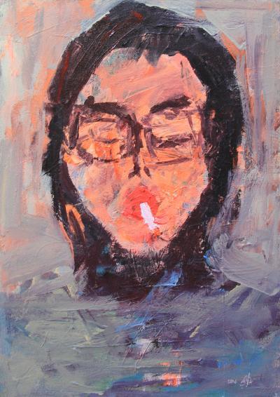 Untitled 30, 2016, acrylic on canvas, 70 x 50 cm
