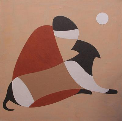 Loyal Dog, 2012, natural sand on canvas, 120x120cm