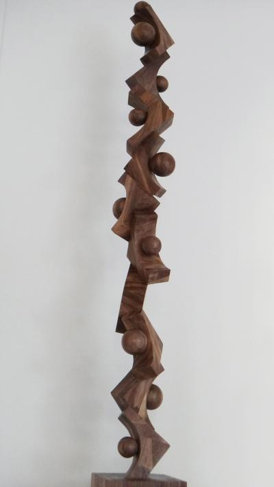 21-Totem 3, African Wood,181 cm