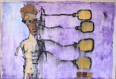 untitled 23, 2018, acrylic on canvas, 139x197cm
