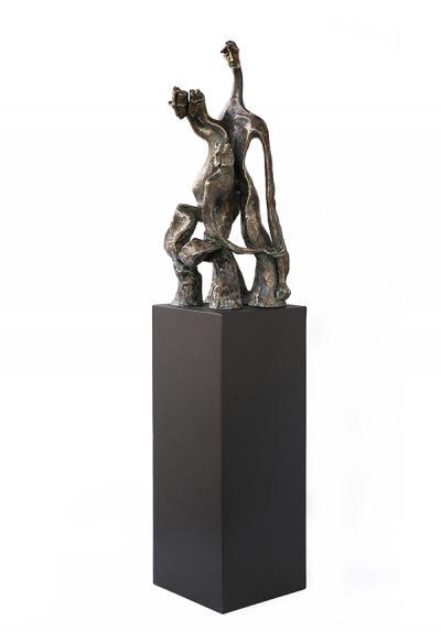 Struggle, 2014, Bronze, 36 x 17 x 20 cm