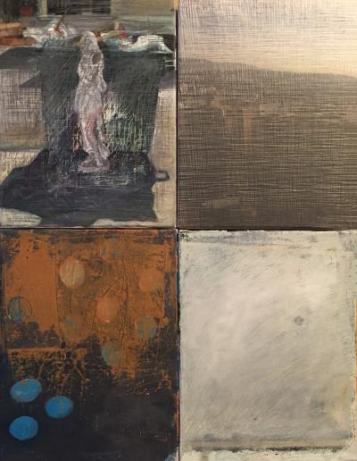 Venus dans L'ombre de la poubelle 1, 2017, mixed media on canvas, 80 x 60 cm