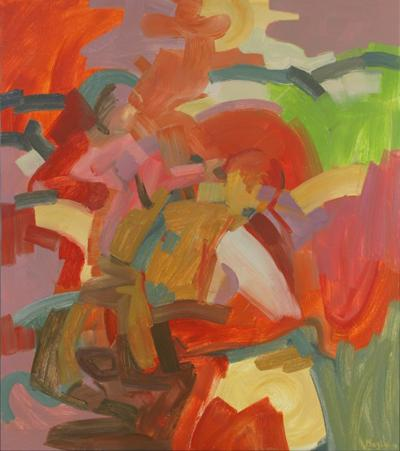 Mise au point, 2007, Oil on canvas, 115 x 102 cm