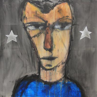Untitled, acrylic on canvas, 100X80 cm