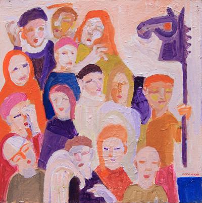 Untitled 23, 2020, acrylic on canvas, 45x45cm