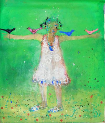untitled 11,  2014, acrylic on canvas, 108x90cm