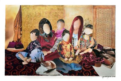 GRANDMA'S STORY, 2016, Collage, 40 x 60 cm