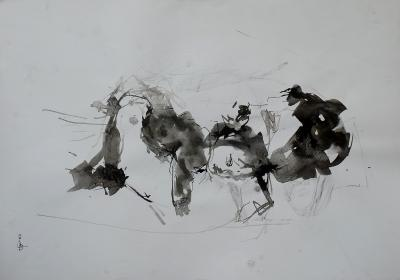 Untitled 290, mixed media on paper,  50 x 35 cm